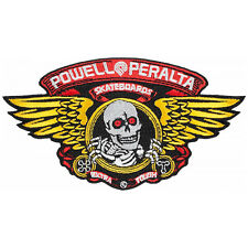 Powell Peralta Skateboard Patch Winged Ripper Embroidered Iron /Sew On
