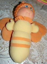 "Vintage 1984 Soma Glow Worm Bee Butterfly Firefly Bug 12"" Plush Head Not Tested"