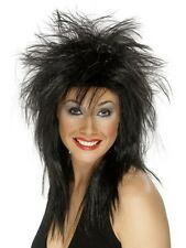 Rockin Roll 80s 1980 Black Tina Turner Costume Women Wig