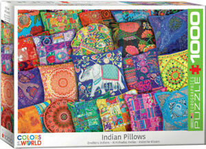 Eurographics Puzzle 1000 Piece Jigsaw puzzle - Indian Pillows  EG60005470