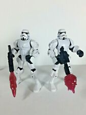 """Lot of 2 - Star Wars - Hero Mashers - Stormtroopers - 6"""" Scale Action Figure"""