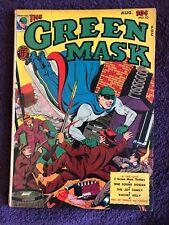 The Green Mask #10 (1944, Fox) Rare Golden Age Gem. VG/VG+ Origin Rocket Kelly