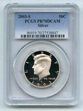 2003 S 50C Silver Kennedy Half Dollar PCGS PR70DCAM
