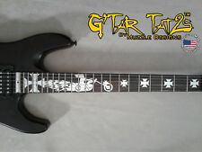 Biker Decal Sticker Inlay - aluminum for Right handed guitar 22-24 Fret