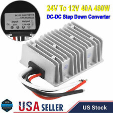 24Volt Step Down to 12Volt 40 Amp DC DC Converter Voltage Reducer Regulator 480W