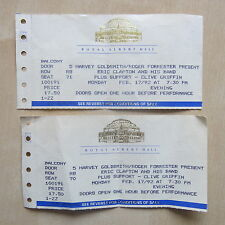 ERIC CLAPTON 2 x used concert tickets Royal Albert Hall 17/2/1992