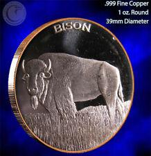 """""""Bison"""" 1 oz .999 Copper Round Part of the Wildlife Series"""