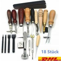 18tlg Leder Werkzeug Set Stitching Craft Hand Nähen Sewing Stitching Groover Set