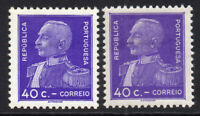 Portugal Two 40c Stamps c1934 (May) Mounted Mint Hinged (7618)