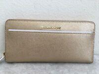 NWT Michael Kors Money Pieces Pocket Zip Around Leather Wallet Original Packagi