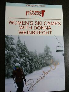 DONNA WEINBRECHT Hand Signed Autograph 4X5 Photo - OLYMPIC GOLD MEDAL SKIER 1992