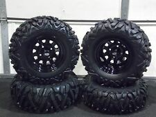 "YAMAHA BIG BEAR 350/400 25""  QUADKING ATV TIRE- ITP BLACK ATV WHEEL KIT BIGGHORN"