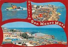 Italy San Mauro Mare, Beach Playa Promenade Boats Auto Cars