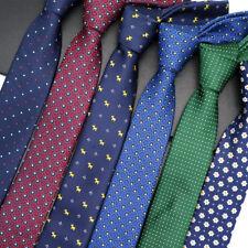 Lot 6 Packs Men's Necktie 6CM Polka Dot Skinny Narrow Slim Neck Tie For Wedding