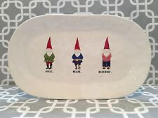 "Rae Dunn By Magenta Gnome Large Christmas Platter  "" Magic Merry Mischeif "" New!"