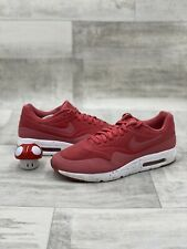 Nike Air Max 1 Ultra Moire Terra Red White Black  705297-611 Mens Size 12