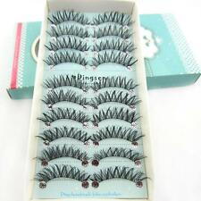100Pairs 100% Handmade 3D Long Cross Soft  False Eyelashes EyeLashes Messy