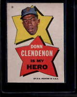 1967 Topps Pirates Stickers #30 Donn Clendenon My Hero EXMT X1696409