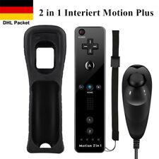 2 in 1 Motion Plus Remote Fernbedienung + Nunchuck Controller für Wii Nintendo