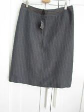 CCDK 100% Linen Pinstripe Straight Skirt NWT Size 14