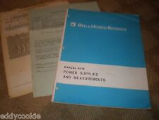 1973 Bell & Howell Schools Manual 9016 - Power Supplies & Measurements w/ extras