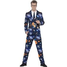 Men's Space Stand Out Suit Fancy Dress Costume Solar System Stag Night Planet