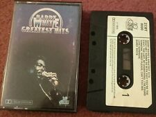 """Barry White """"Greatest Hits"""" Cassette  Album. 1975 Early Paper Label Issue. Exc"""