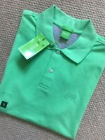 "HUGO BOSS GREEN LABEL GREEN ""C-FIRENZE/LOGO"" POLO SHIRT TOP - S M L - NEW TAGS"