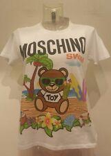 SS16 Moschino Swim Jeremy Scott Teddy Bear Palm Tree Cotton White T-shirt Tshirt