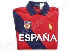 New Ralph Lauren Polo Pony Custom Fit Red 100% Cotton Spain Shirt SLIM sz XL