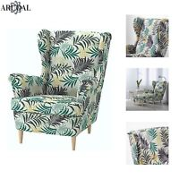 IKEA STRANDMON Wing Chair, High Back, Gillholv Multicolour (Stool Not Included)