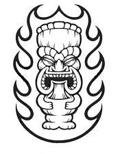 FLAMING TIKI mask JEEP Islander WRANGLER car sticker decal  YOU PICK COLOR