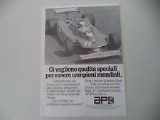 advertising Pubblicità 1979 AP AUTOMOTIVE PRODUCTS e FERRARI e JODY SCHECKTER
