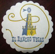 Vintage El Rancho Vegas Hotel & Casino Cloth Cocktail Coaster Napkin - Las Vegas