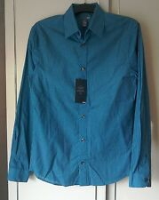 "Men's H&M Blue & Black Checked Shirt NWT Size ""S"""