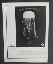 1933 Schaefer fine beer our hand has never lost its skill vintage ad