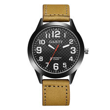 Men's Watch Military Watches Stainless Steel Leather Band Analog Quartz Luxury