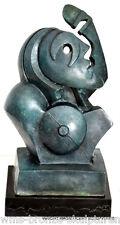 BRONZE BUSTE Hommage à Pablo Picasso, figure en bronze sculpture en bronze signé