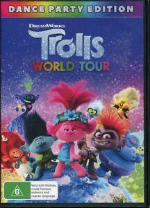 Trolls World Tour Dance Party Edition DVD NEW Sealed Region 4