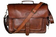 Men's Top-Quality Genuine Vinatge Leather Briefcase Messenger Satchel Laptop Bag