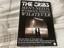 The Cribs Men's Needs Promo Card. Postcard Size