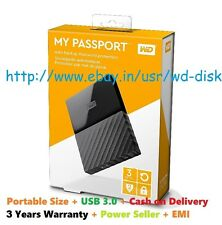 Western Digital WD 3TB Black My Passport Portable External Hard Drive USB 3.0