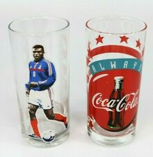 ~~2x Vintage Coca cola glasses McDonalds France Football Always Coca-Cola 275ml
