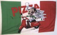Fahne Flaggen PIZZA MIT ROLLERFAHRER 150x90cm TDShop24