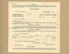 1931 Iowa Sons Union Veterans Civil War,Wildman,Smith,Wulff,Marshalltown,Iowa Ia