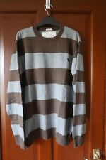 Abercrombie & Fitch grey/brown striped jumper, Medium, used but great condition