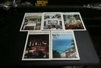 5x Architectural Digest Magazine 1990 March May July August September