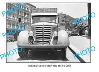 OLD LARGE PHOTO OF GOLDEN FLEECE TRUCK c1940 SYDNEY 1