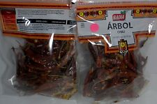 Authentic Arbol Chili Peppers by Badia - Two 3 oz. Pkgs of Dried Chili peppers