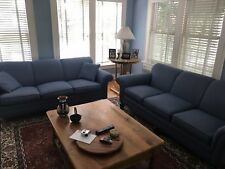 2 Traditional Blue Couches Set Living Room Furniture [PERFECT CONDITION]